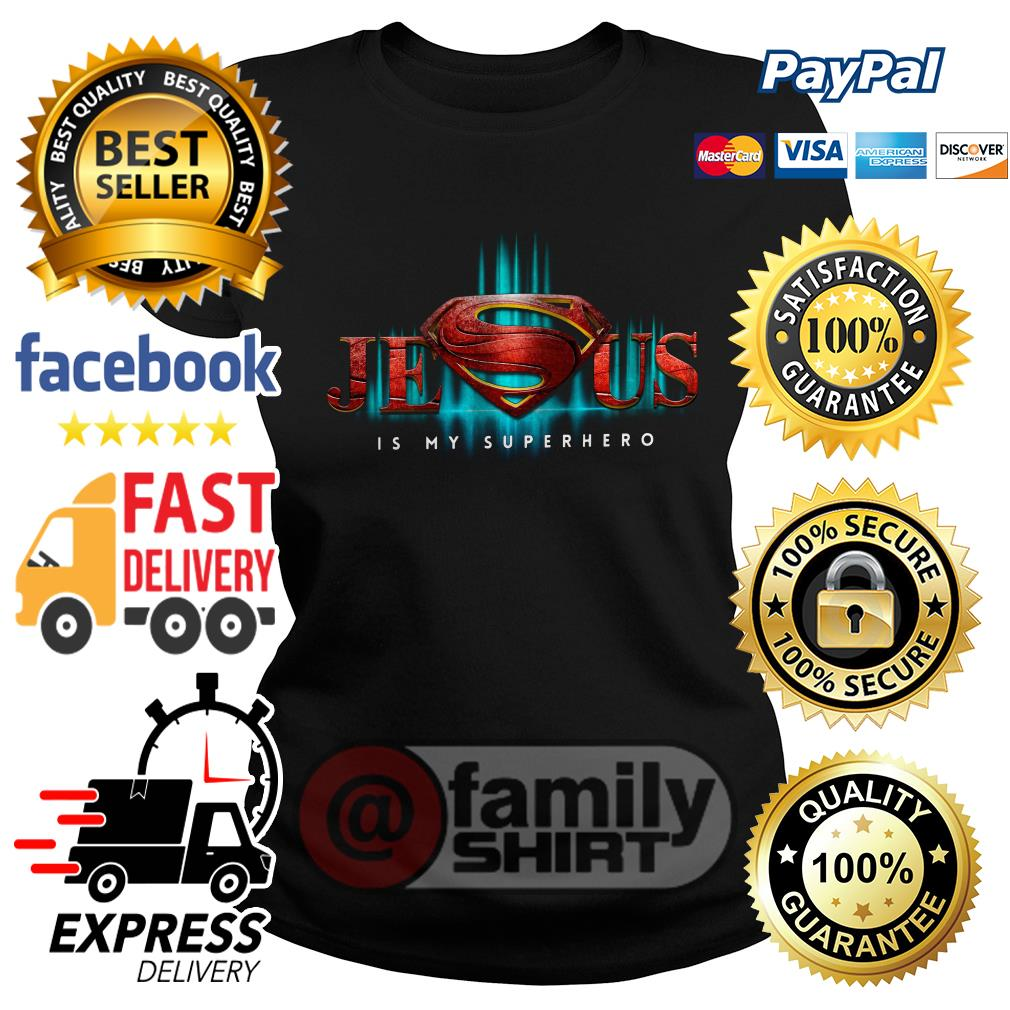 Jesus Is My Superhero Ladies Tee