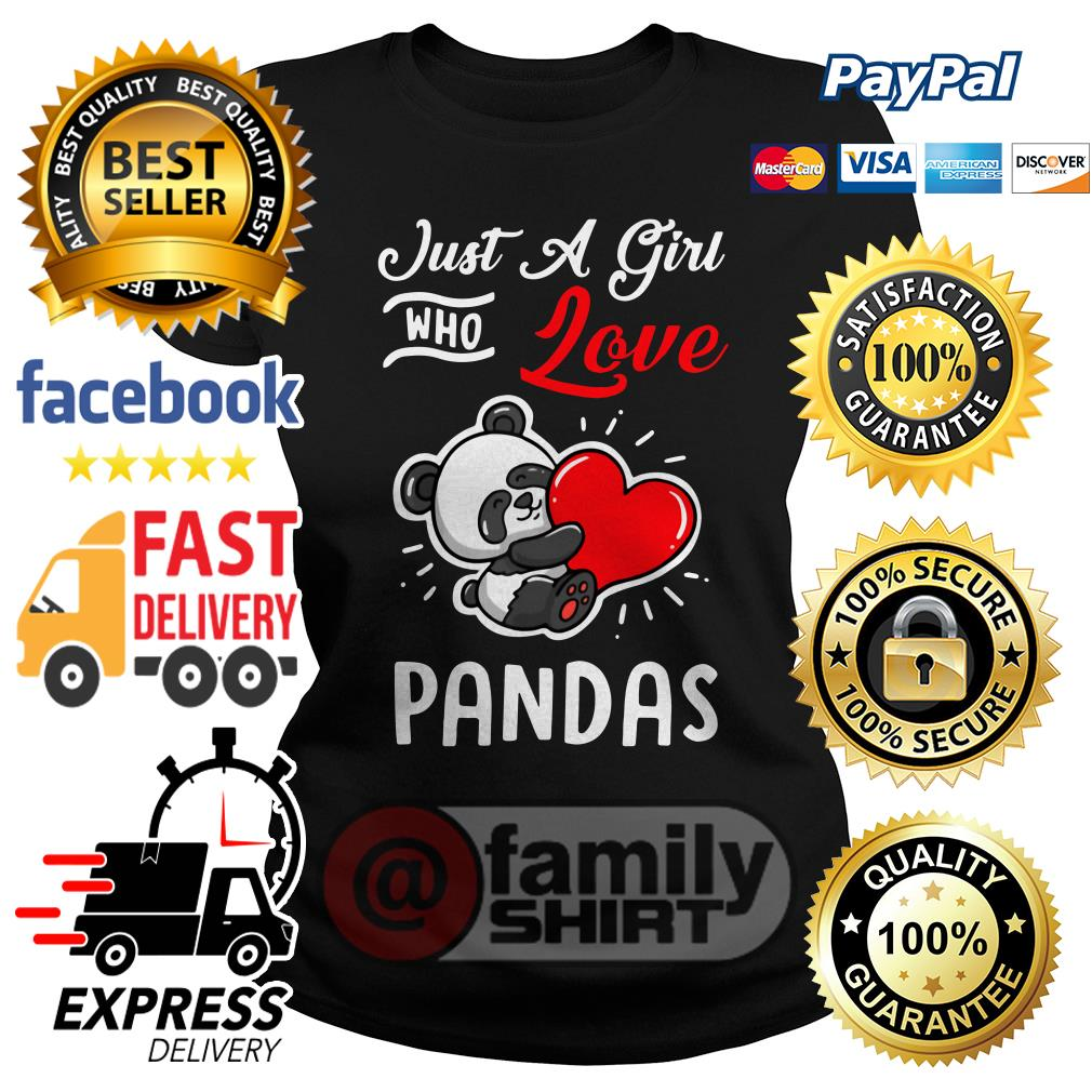 Just A Girl Who Love Pandas Ladies Tee