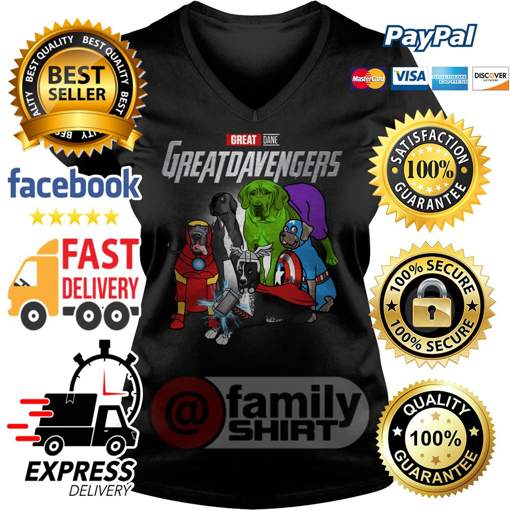 Marvel Great Dane Great Dane Avengers V-neck T-shirt