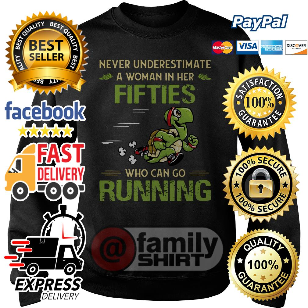 Ladies Printed T-Shirt Turtle I Run