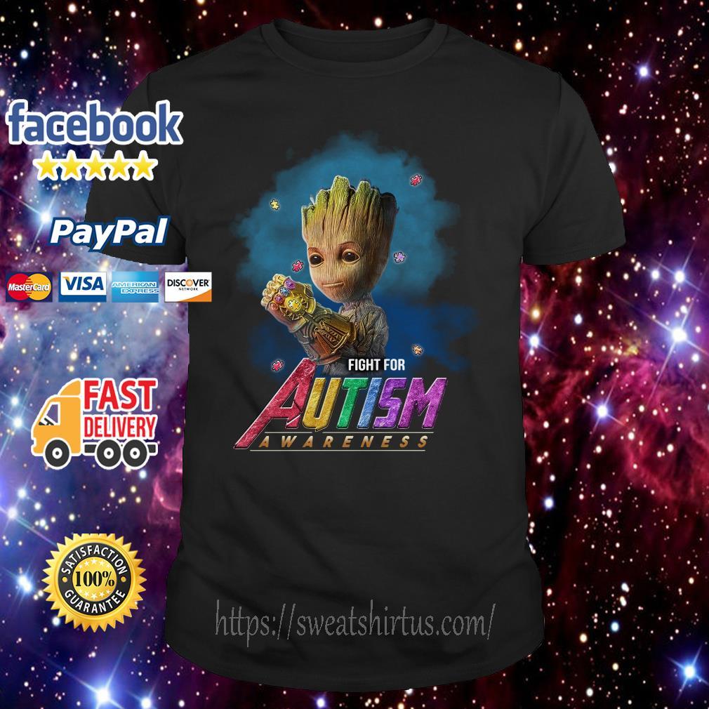 Groot Infinity Gauntlet Fight For Autism Awareness Shirt