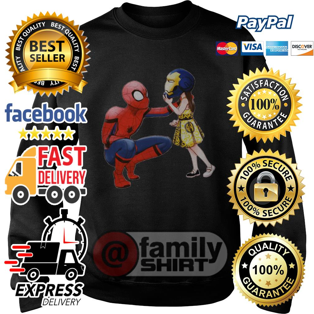 Peter Parker Spiderman And Morgan Stark Sweater