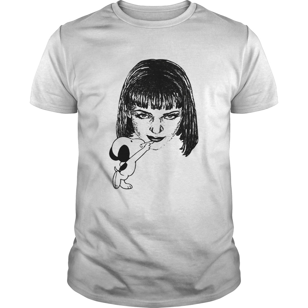 Snoopy Drawing Mia Wallace Pulp Fiction Unisex