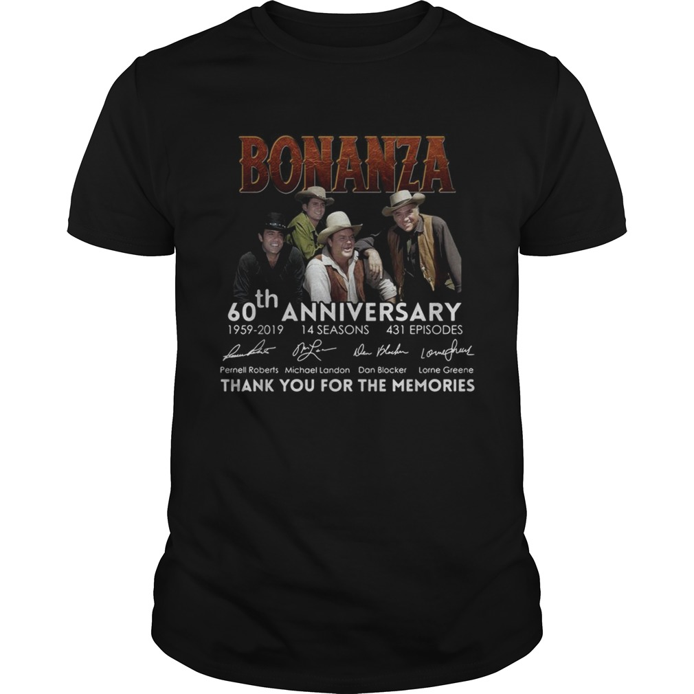 Bonanza 60th Anniversary Thank You For The Memories Unisex