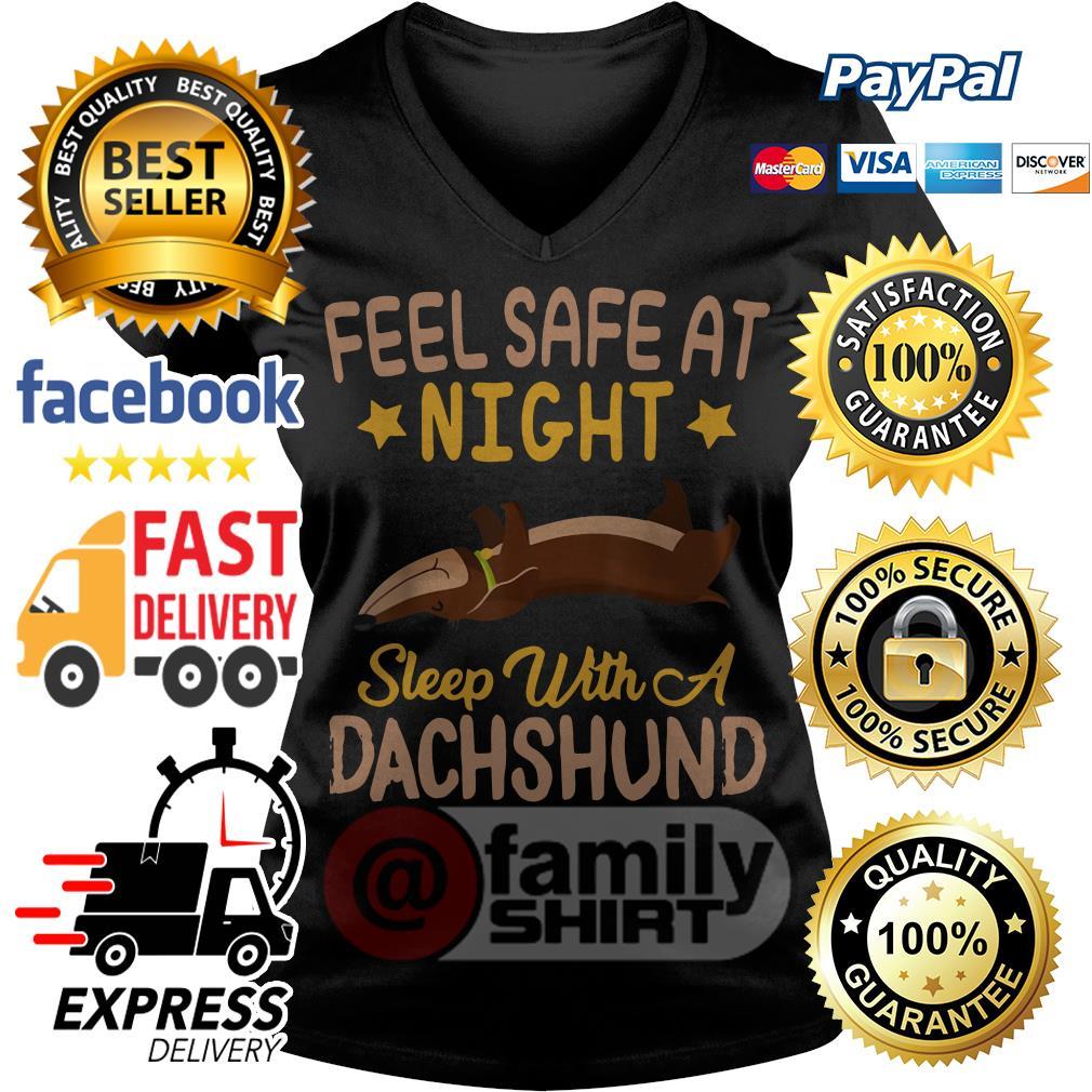 Feel Sale Night Sleep Dachshund V-Neck T-Shirt