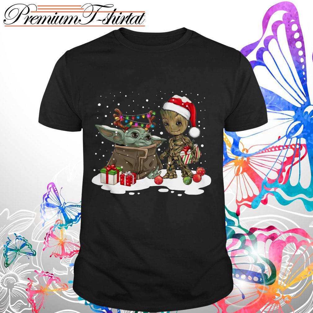 Baby Yoda And Groot Santa Christmas Shirt, Sweater