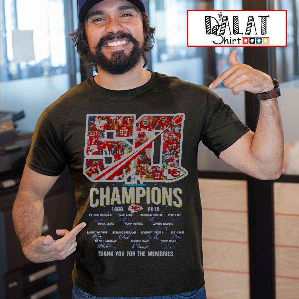 Kansas City Chiefs 50 Years Champion 1969 2019 Thank You For The Memories Shirt