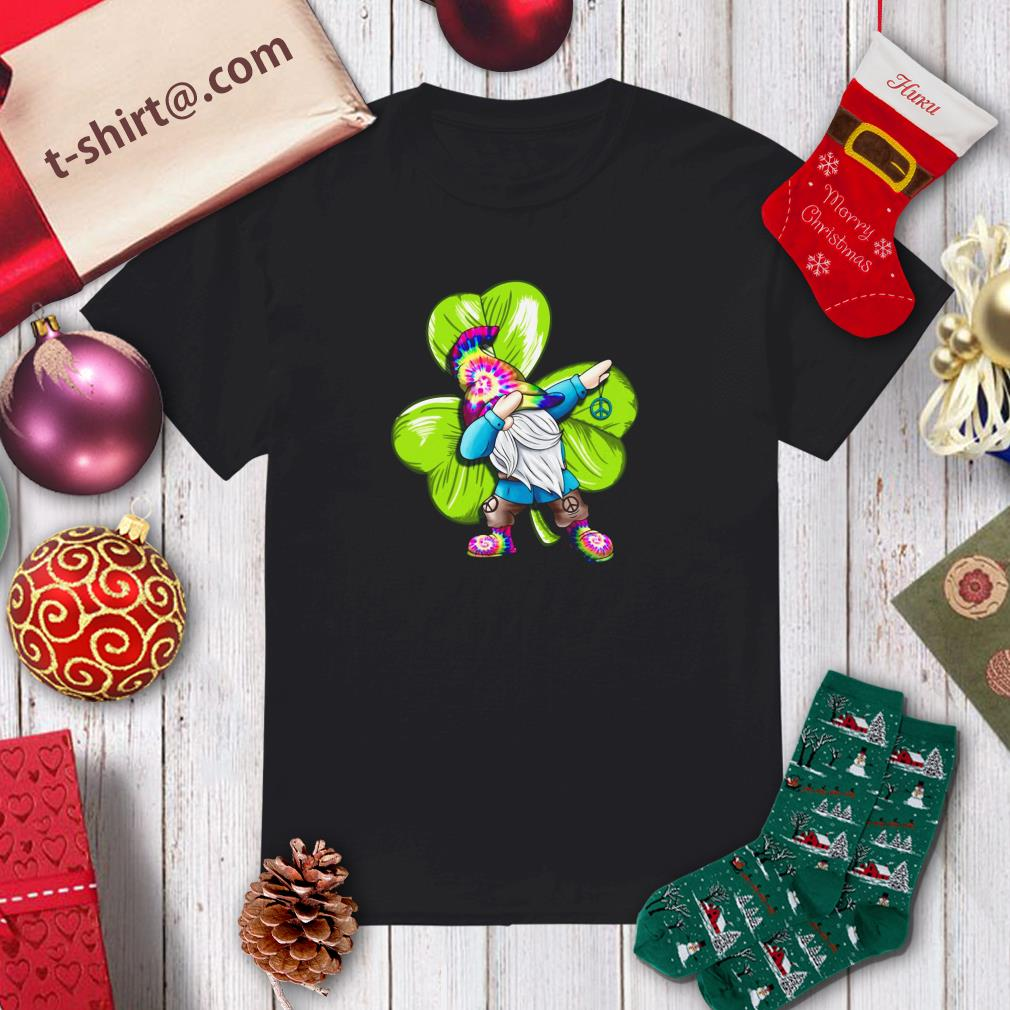 St Patrick's Day Hippie Gnome Dabbing Shirt