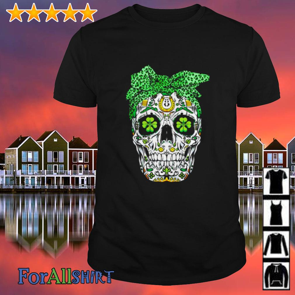 Sugar Skull Shamrock Bow Shirt