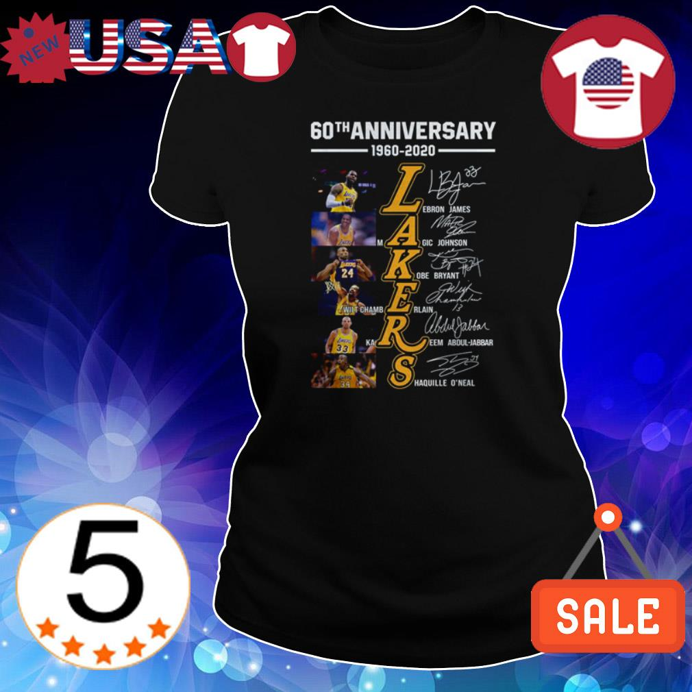 Los Angeles Lakers 60th Anniversary 1960 2020 Signature Shirt