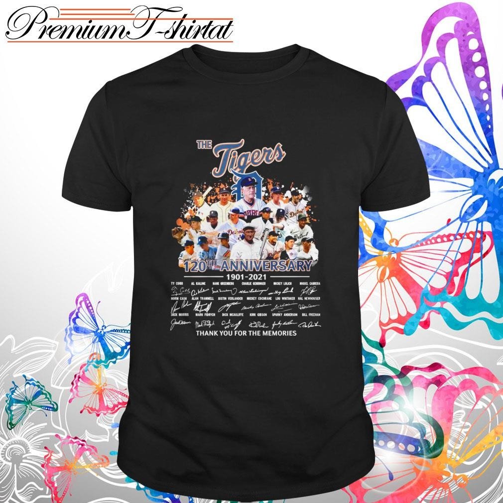 The Detroit Tigers 120th Anniversary 1901 2021 Thank You For The Memories Shirt