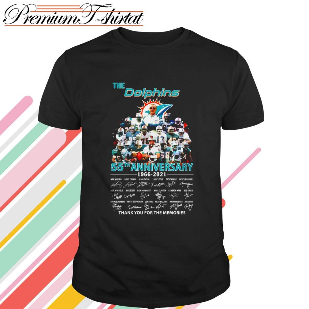 The Miami Dolphins 55th Anniversary 1966 2021 Thank You For The Memories Shirt