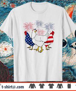 Firework Chicken Red White Blue 4th July Shirt