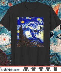 Starry Night Vincent Van Gogh Cat Shirt